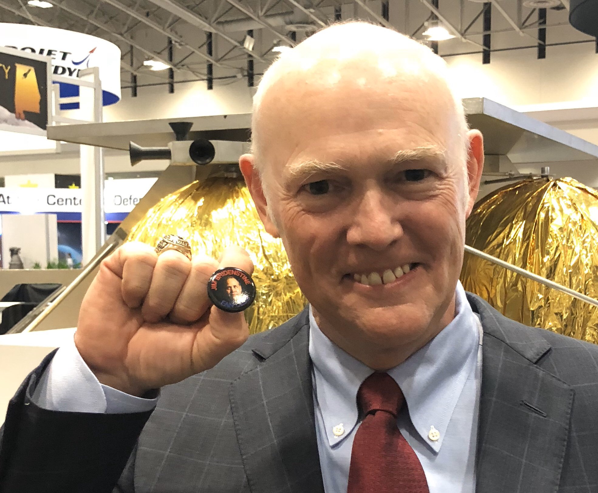 Tory Bruno, CEO, United Launch Alliance with JBFC Pin